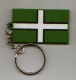 Devon County Flag Soft PVC Keyring.